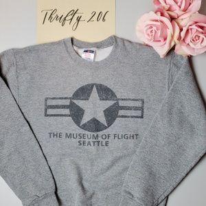Jerzees Shirts & Tops - [Jerzees] Museum of Flight - Seattle Sweatshirt